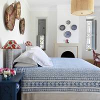 Blue & White Bedroom - Moroccan House