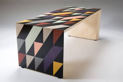 Inlaid sycamore table