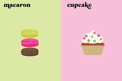 Macaroon v Cupcake