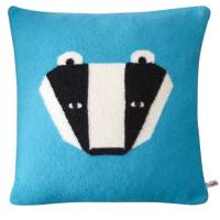 Blue Badger Cushion