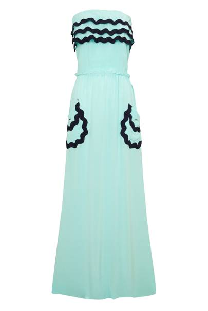 Strapless Maxi with Ribbon Details