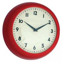 Red Retro Kitchen Wall Clock