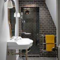 Dark Tile Bathroom - Modern Victorian Oxford House