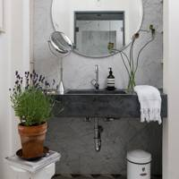 Bathroom Basin - At Home: Calm Brooklyn Apartment | Real Homes