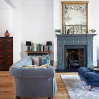 Slate Blue Fireplace