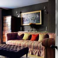 Dark Textured Wall Sitting Room