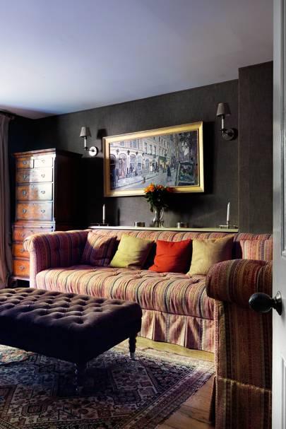 Grey Sitting Room - English Garden Square House