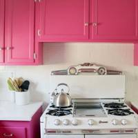 Diana La Counte Pink Kitchen