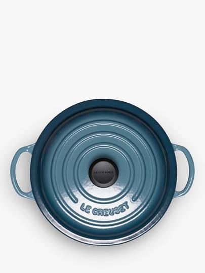 Le Creuset Provencale Cast Iron Round Casserole, Dia.22cm, Marine