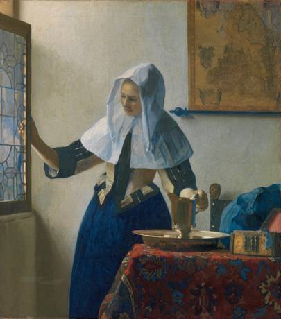 Johannes Vermeer (1632–1675): Young Woman with a Water Pitcher, c.1662
