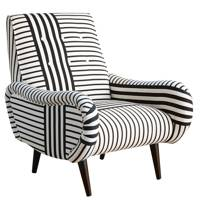 Cotton Mix Upholstered Armchair