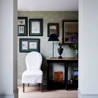 Hallway with Framed Pictures