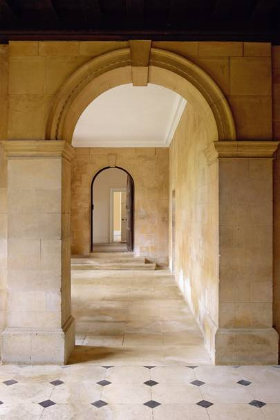View into Front Hall - Apethorpe Palace