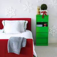 Bold & Modern Christmas Bedroom