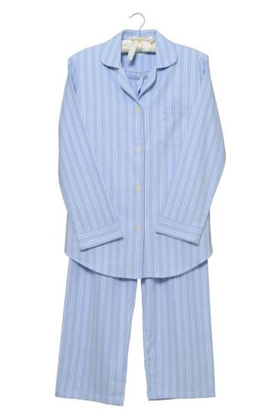 December 13: Cologne & Cotton Blue Stripe Brushed Cotton Pyjamas, Medium, £69