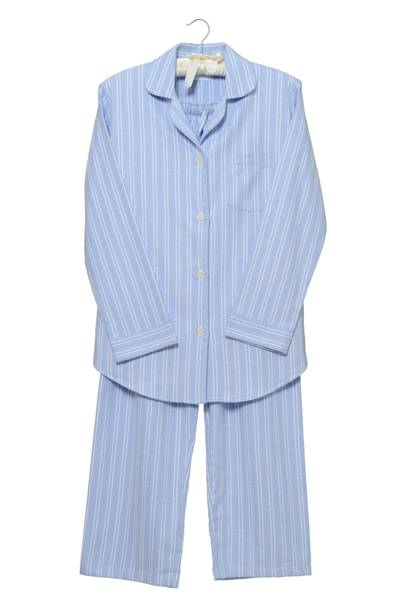 December 13: Cologne & Cotton Blue Stripe Brushed Cotton Pyjamas, Medium, £69
