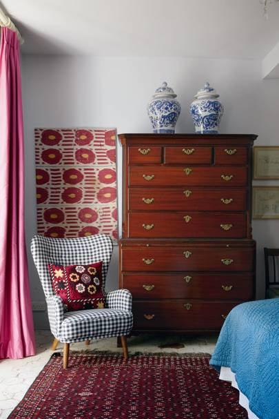 Bedroom with Antique Tallboy
