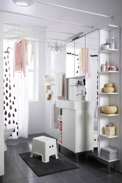 White IKEA Shelving