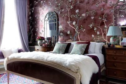 Bed in Main Bedroom