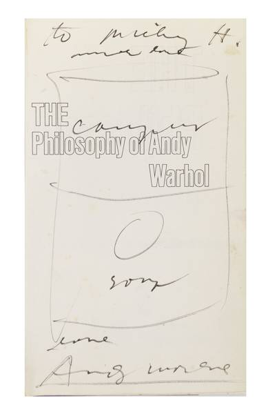 'From A to B & Back Again: The Philosophy of Andy Warhol', book inscribed to Nicky Haslam