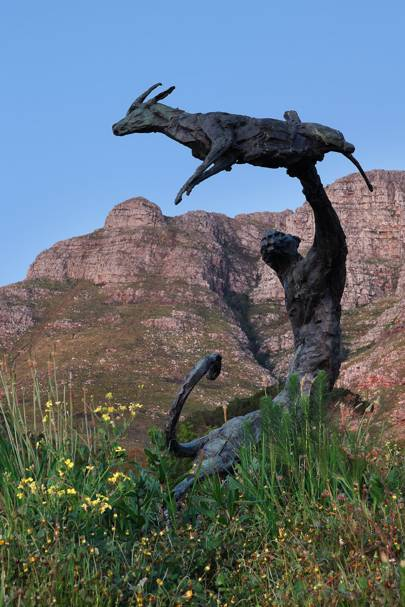 Mountain and Sculpture