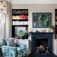 Sitting Room Bookcase - Nicole Salvesen London Family Home