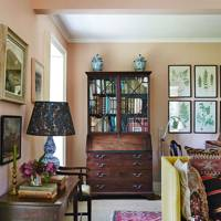 Sitting room with glazed bookcase