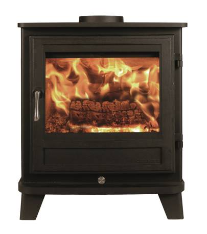 'Salisbury 5 Series' wood burning stove,  53 x 48 x 33cm, from £1,110, from Chesneys