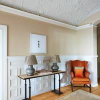 Coved Plasterwork Ceiling in Hallway