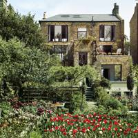 London Garden with Tulips and Terrace |  City Garden Ideas