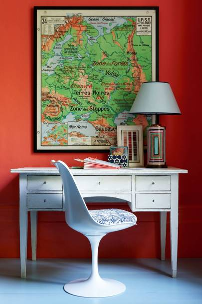 Orange & Green Map Scheme - Wall & Feature Wall Paint Colour Ideas
