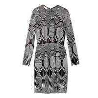 Graphic Jacquard Jersey Dress