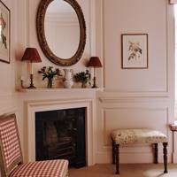Pink Bedroom Seating - Restored Georgian House in Somerset