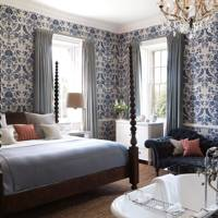 Blue Pattern Country Bedroom