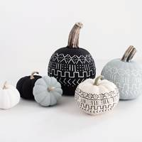 Painted Pumpkins - DIY Halloween