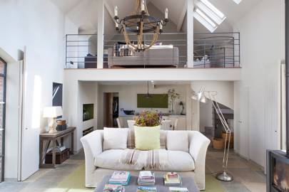 Living Room Mezzanine - Norfolk Barn Conversion