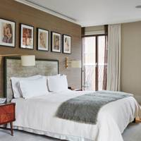 Silk Wallpaper in Earthy Bedroom