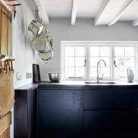 Black Wooden Kitchen Units