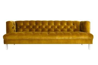 Yellow Velvet Sofa