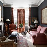 Traditional Dark Living Room