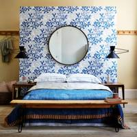 Contrasting Wallpaper Headboard