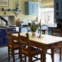 Yellow & Blue Country Kitchen