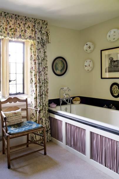 'Geranium' Bathroom Curtains