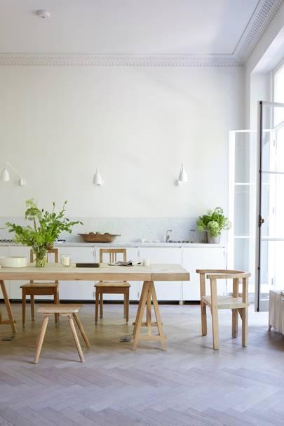 Kitchen Dining Table - Anna Valentine's Bright London Flat