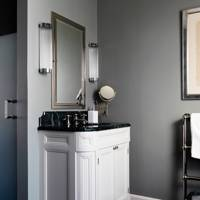 Grey Bathroom with White Unit
