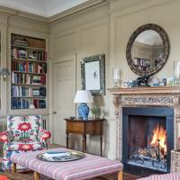 Library Fireplace - Traditional Hampshire Country House