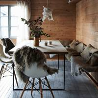 Dining Area with Fur Accents