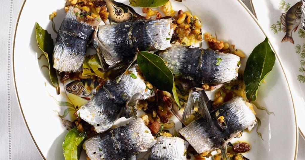 Sardines a beccafico