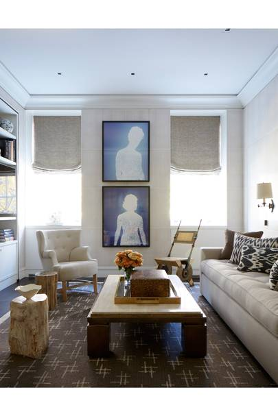 Living Room Coffee Table - Modern Park Avenue Apartment