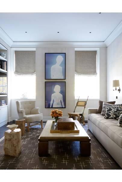 Living Room Coffee Table - Modern Park Avenue Apartment